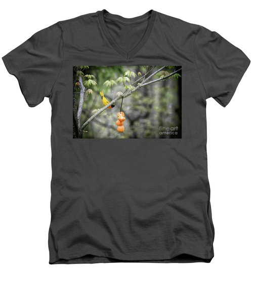 Men's V-Neck T-Shirt featuring the photograph Is This For Me by Lila Fisher-Wenzel