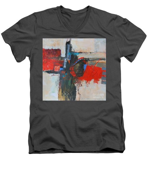 Is This The Way Out? Men's V-Neck T-Shirt by Ron Stephens
