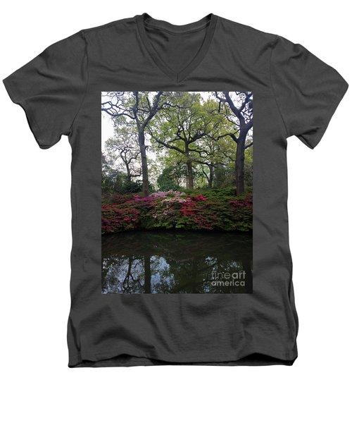 Men's V-Neck T-Shirt featuring the photograph Isabella Plantation by Hanza Turgul