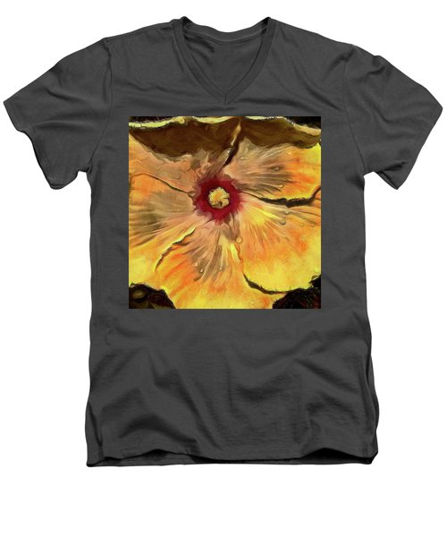 Men's V-Neck T-Shirt featuring the mixed media Isabella by Trish Tritz