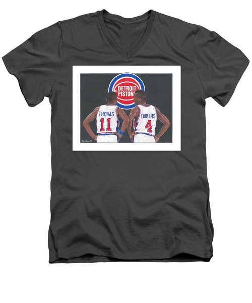 Isiah Thomas And Joe Dumars Men's V-Neck T-Shirt