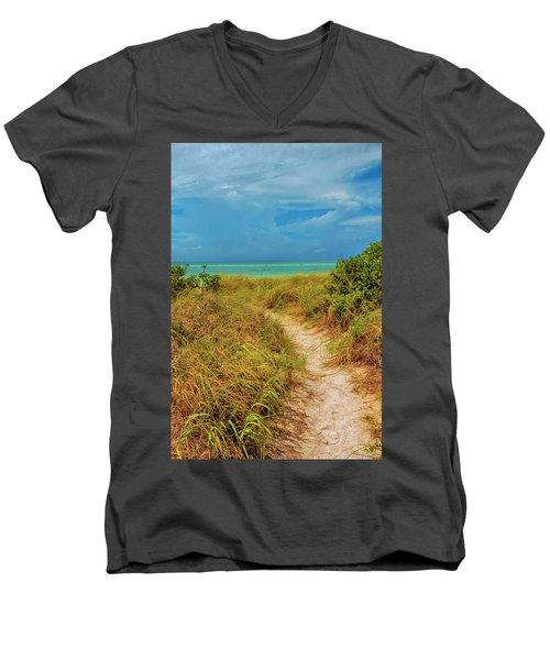 Island Path Men's V-Neck T-Shirt