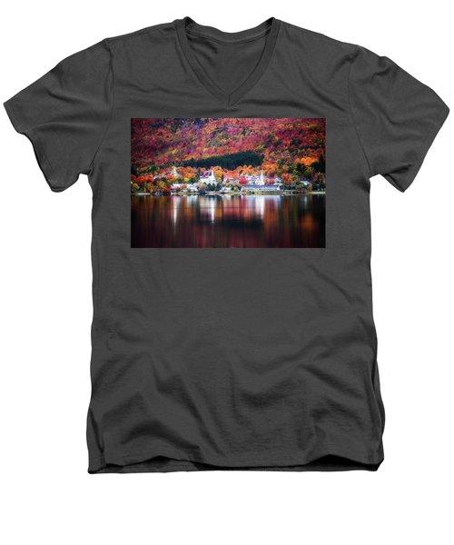 Island Pond Vermont Men's V-Neck T-Shirt