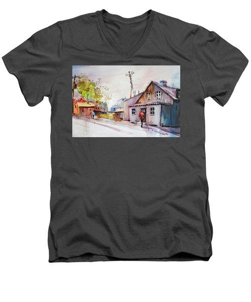 Island Shipyard Men's V-Neck T-Shirt