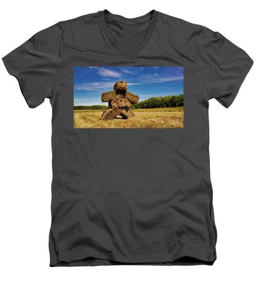 Island Strawman Men's V-Neck T-Shirt