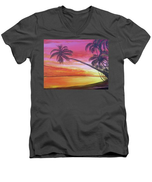Island Sunrise Men's V-Neck T-Shirt