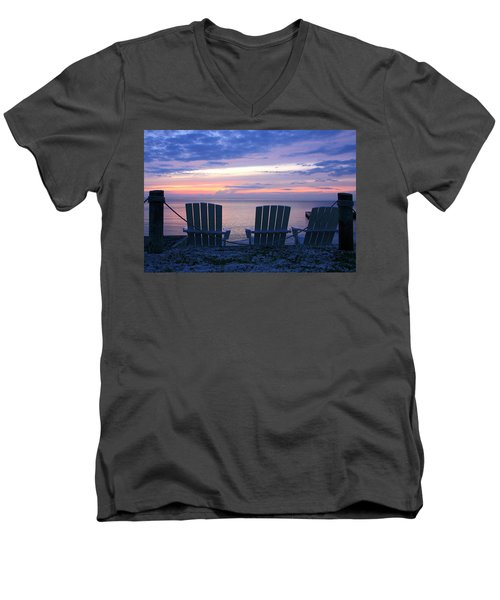 Island Time Men's V-Neck T-Shirt by Catherine Alfidi