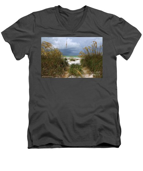Island Trail Out To The Beach Men's V-Neck T-Shirt