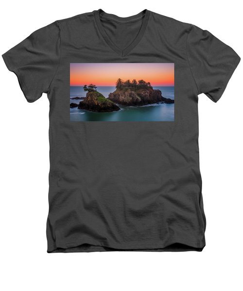 Men's V-Neck T-Shirt featuring the photograph Islands In The Sea by Darren White