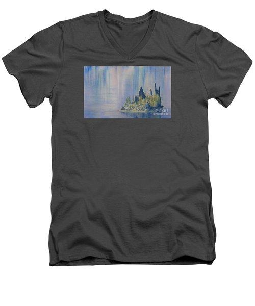 Isle Of Reflection Men's V-Neck T-Shirt
