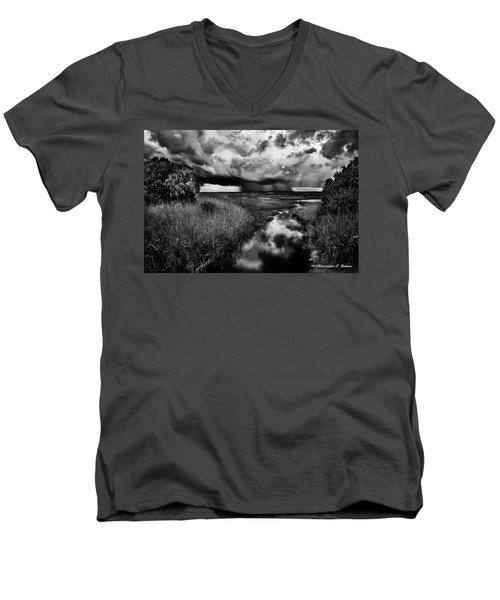 Isolated Shower - Bw Men's V-Neck T-Shirt