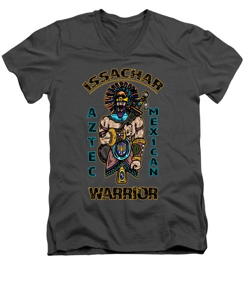Issachar Aztec Warrior Men's V-Neck T-Shirt