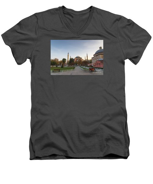 Istanbul City Center Men's V-Neck T-Shirt by Yuri Santin