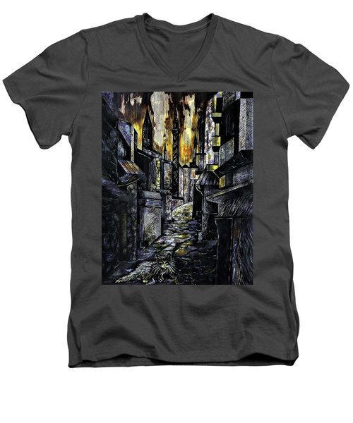 Istanbul Impressions. Lost In The City. Men's V-Neck T-Shirt