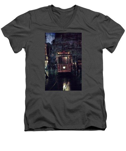 Istanbul Men's V-Neck T-Shirt by Vittorio Chiampan