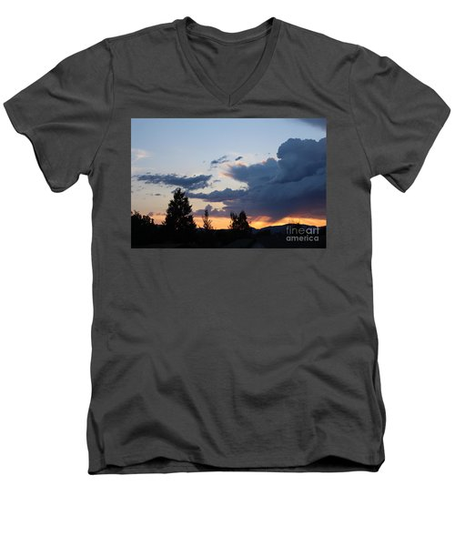 Men's V-Neck T-Shirt featuring the photograph It Cometh by Marie Neder
