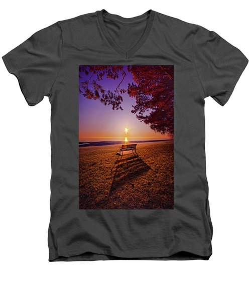 Men's V-Neck T-Shirt featuring the photograph It Is Words With You I Seek by Phil Koch