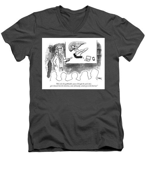 It Winds Up On The Internet Men's V-Neck T-Shirt
