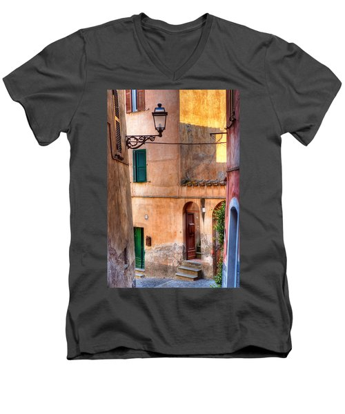 Italian Alley Men's V-Neck T-Shirt by Silvia Ganora