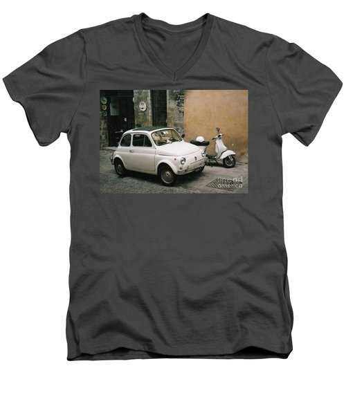 Italian Classic Commute  Men's V-Neck T-Shirt
