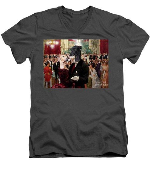 Italian Greyhound Art Canvas Print - Beautiful City Dance Hall Vienna Wilhelm Gause Men's V-Neck T-Shirt
