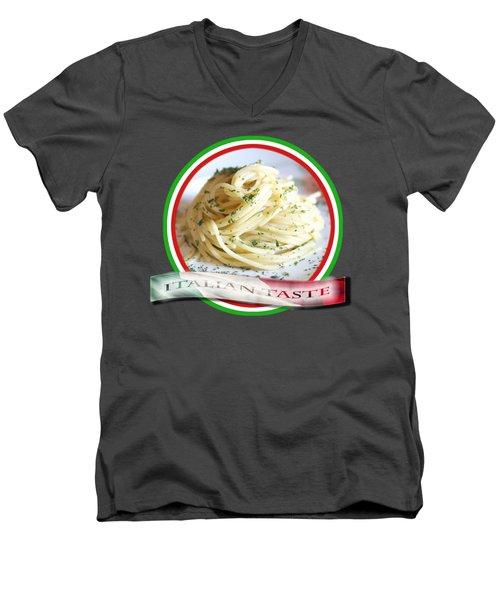 Italian Taste Spaghetti Men's V-Neck T-Shirt