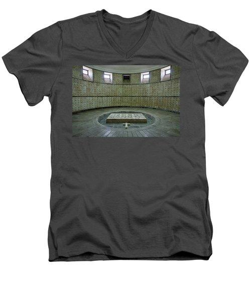 Men's V-Neck T-Shirt featuring the photograph Italian World War One Shrine #2 by Stuart Litoff