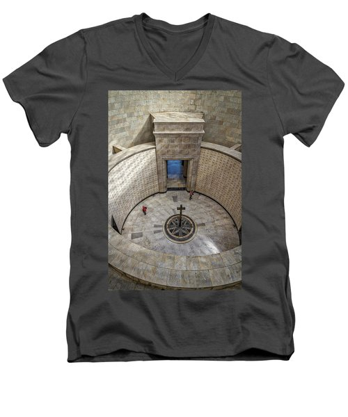 Men's V-Neck T-Shirt featuring the photograph Italian World War One Shrine #3 by Stuart Litoff