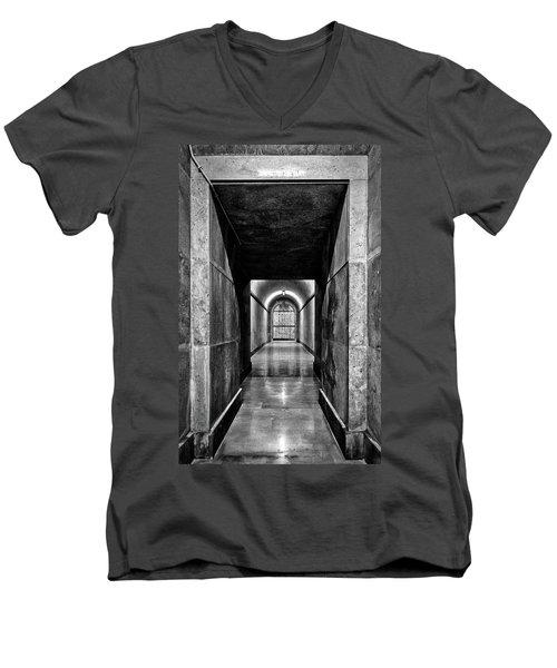 Men's V-Neck T-Shirt featuring the photograph Italian World War One Shrine #4 by Stuart Litoff