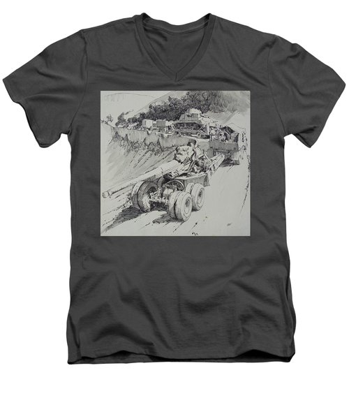 Italy 1943. Men's V-Neck T-Shirt by Mike Jeffries