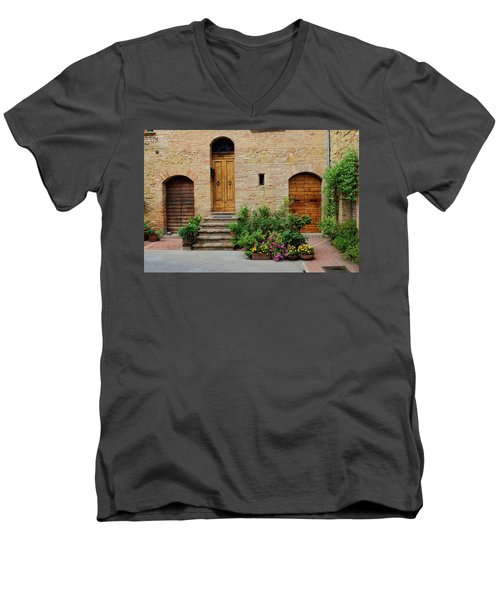 Italy - Door Eight Men's V-Neck T-Shirt