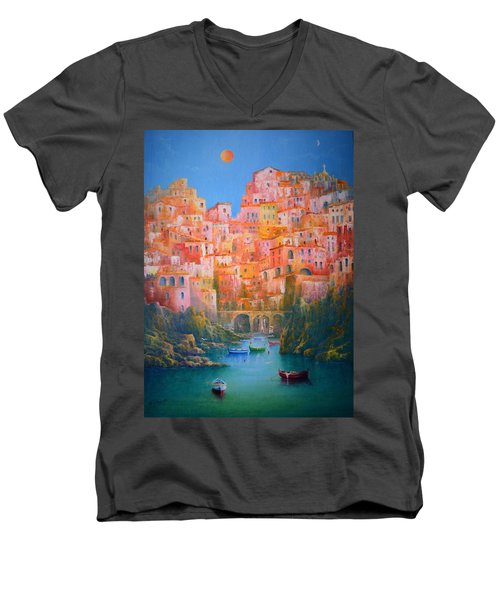 Impressions Of Italy   Men's V-Neck T-Shirt