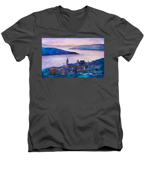 Ithaca Ny Men's V-Neck T-Shirt