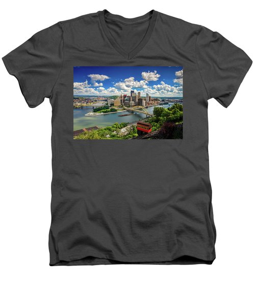 Men's V-Neck T-Shirt featuring the photograph It's A Beautiful Day In The Neighborhood by Emmanuel Panagiotakis