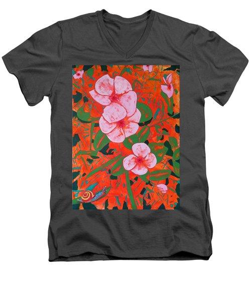 It's A Big World Men's V-Neck T-Shirt