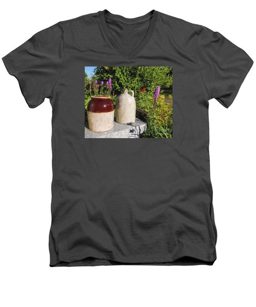 Men's V-Neck T-Shirt featuring the photograph It's A Crock by Mim White