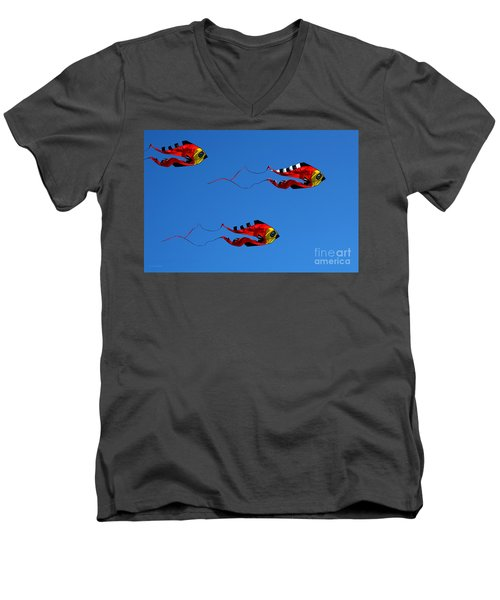 It's A Kite Kind Of Day Men's V-Neck T-Shirt
