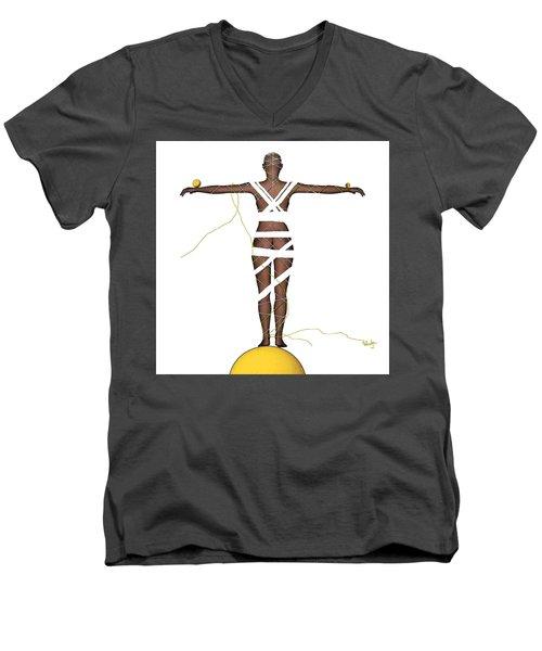 It's All In Your Head Men's V-Neck T-Shirt by Sladjana Lazarevic