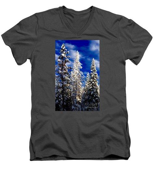Its Now Crystal Clear Men's V-Neck T-Shirt by Jennifer Lake