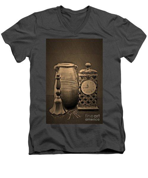 It's Time For... Men's V-Neck T-Shirt by Sherry Hallemeier