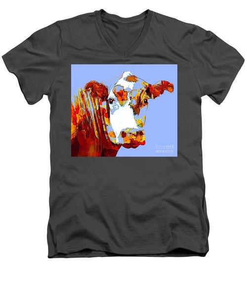 Purple Cow Men's V-Neck T-Shirt