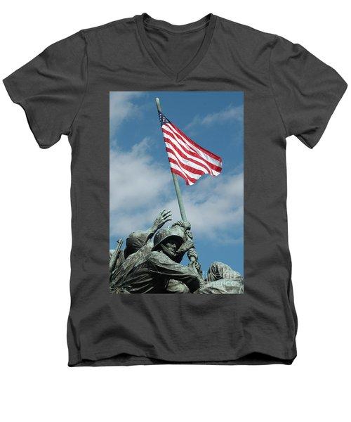 Iwo Jima Memorial Men's V-Neck T-Shirt