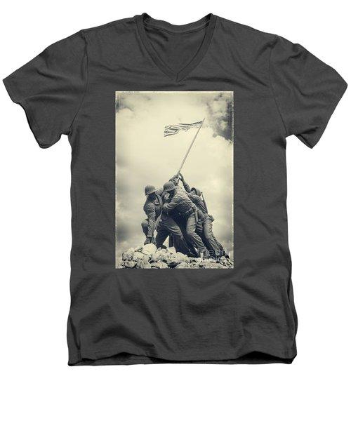Iwo Jima Monument Men's V-Neck T-Shirt