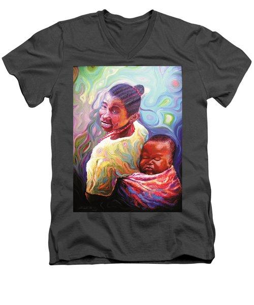 Iyaniwura  Men's V-Neck T-Shirt by Bankole Abe
