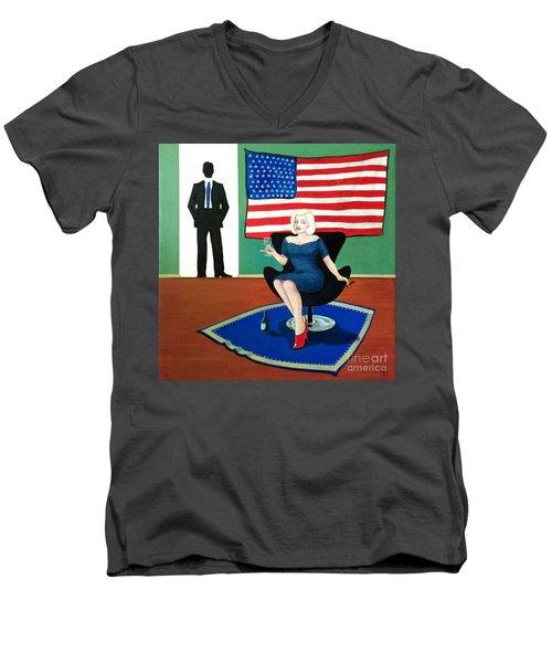 Jack And Marilyn Men's V-Neck T-Shirt