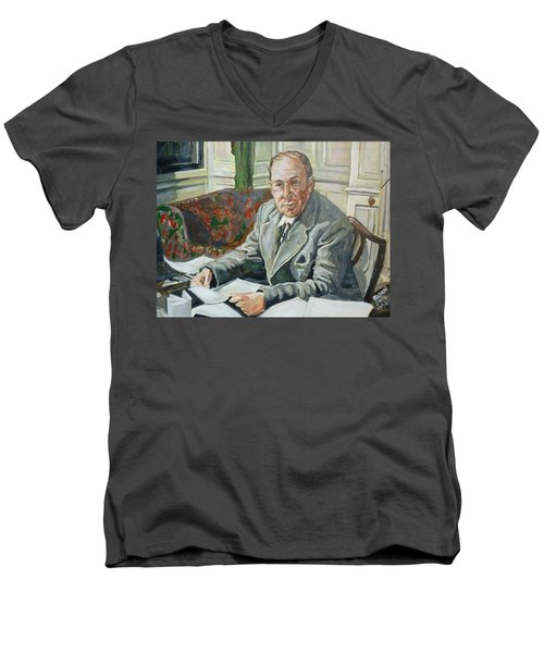 Jack C S Lewis Men's V-Neck T-Shirt