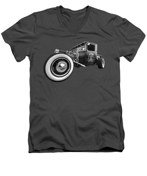 Jack Daniels Vintage Hot Rod Delivery Men's V-Neck T-Shirt