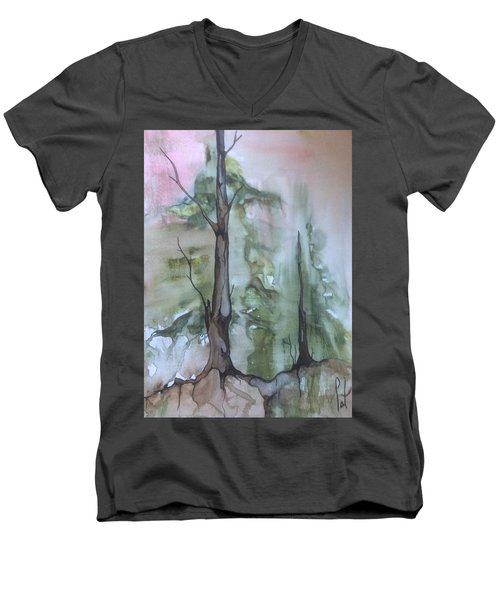 Jackfish Lake Men's V-Neck T-Shirt by Pat Purdy