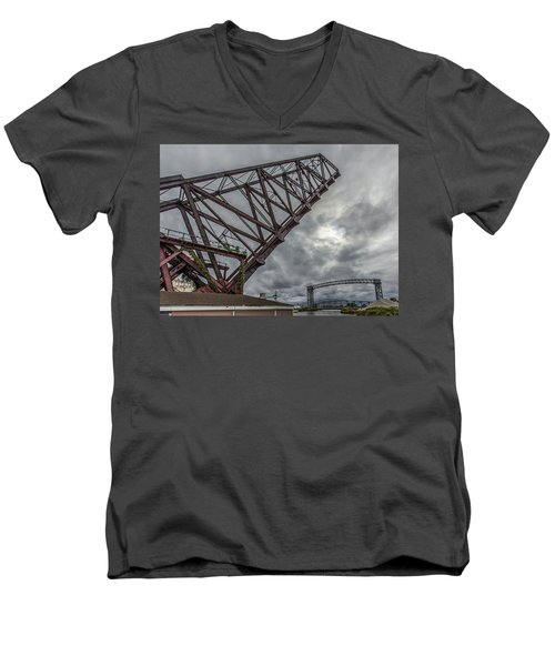 Jackknife Bridge To The Clouds Men's V-Neck T-Shirt