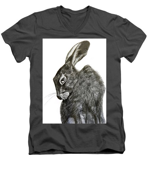 Jackrabbit Jock Men's V-Neck T-Shirt by Linde Townsend